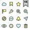 Stock Image : Interface icons set