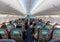 Stock Image : Interior of passenger aircraft
