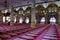 Stock Image : Interior prayer courtyard of Sultan Mosque, Singapore