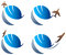 Stock Image : International travel logo