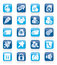Stock Image : Internet blogging icons