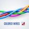 Stock Image : Interwoven plastic wires