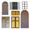 Stock Image :  Inzameling van uitstekend venster