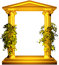 Stock Image : Ionic gold frame with vine
