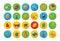 Stock Image : Isometric flat icon set