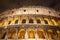 Stock Image : Italy Illuminated Colosseum at night