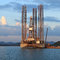 Stock Image : Jack up oil drilling rig in the shipyard