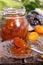Stock Image : Jam of kumquat.