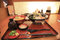 japanese bento rice set with wooden background