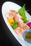 Stock Image : Japanese cuisine. sashimi on the background