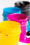 Stock Image : Jars with a paint