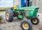 Stock Image : John Deere tractor on a farm