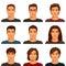 Stock Image :  Jonge mensen met divers kapsel