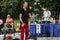 Stock Image : Juggler at Iowa State Fair at Iowa State Fair