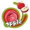 Stock Image : Juice red apple.