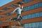 Stock Image : Jumping man