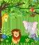 Stock Image : Jungle animals