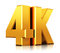 Stock Image : 4K UltraHD TV logo