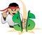 Stock Image : Karate Choping Dollar