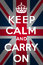 Stock Image : Keep calm and carry on - Union Jack