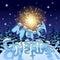 Stock Image :  Kerstman Klaus, hemel, vorst, zak