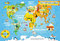 Stock Image : Kids world map