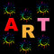 Stock Image : Kids Art Shows Draw Artistic And Crafts