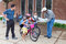 Stock Image : Kids Biking to School