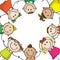 Stock Image : Kids circle