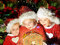 Stock Image : Kids in Santa hats have a Christmas