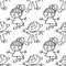 Stock Image : Kids seamless pattern doodle