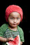 Stock Image : Kind die watermeloen eten