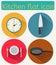 Stock Image : Kitchen flat icon