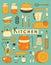 Stock Image : Kitchen Set