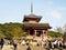 Stock Image : Kiyomizu temple with travelers at Kyoto , Japan