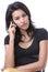 Stock Image : Kobiety wezwania telefon