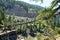 Stock Image : Kootenai Falls Swinging Bridge,  Montana