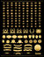 Stock Image : Kroon, vectorinzameling, goud