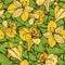 Stock Image :  Kwiecisty bezszwowy tło z żółtymi kwiatami