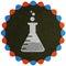 Stock Image : Laboratory flask symbol