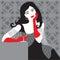 Stock Image : Lady in black