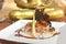Stock Image : Lamb and Beetroot Asian Fusion Dish