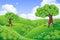 Stock Image : Landscape Green Hills