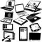 Stock Image : Laptop and tablet black icons