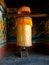 Stock Image : Large prayer wheel for good karma in Bhutan