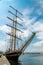 Stock Image : Large sailing yacht