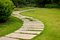 Stock Image : Lawns and paths