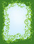 Stock Image : Leafy Green Swirl Border