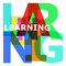 Stock Image : Learning - abstract color letters