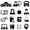 Stock Image : Learning, school and education icons